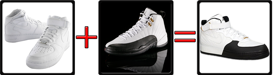 Jordan XII 12 Fusion Nike Air Force One