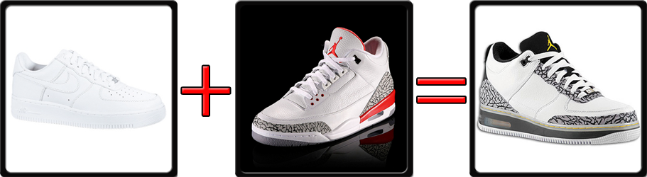 Jordan 3 Fusion Nike Air Force One