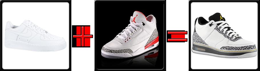 Jordan 3 Fusion Nike Air Force One