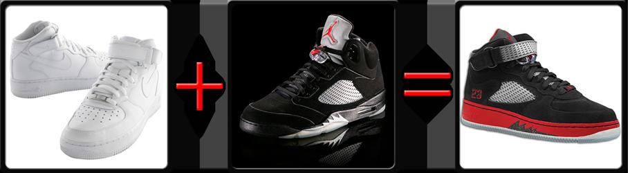 Jordan V 5 Fusion Nike Air Force One